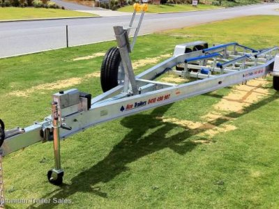 3.5T Tandem Axle Trailer with Neoprene Skid Set-up