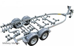 NEW DUNBIER SUPER ROLLER SERIES BOAT TRAILER