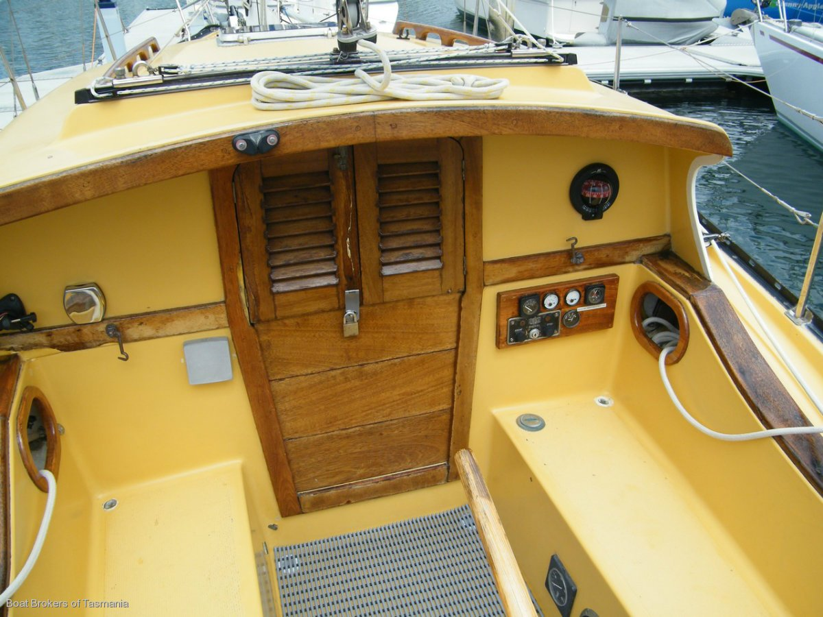 Moondance Swanson 28. Great example of these legendary yachts Boat Brokers of Tasmania