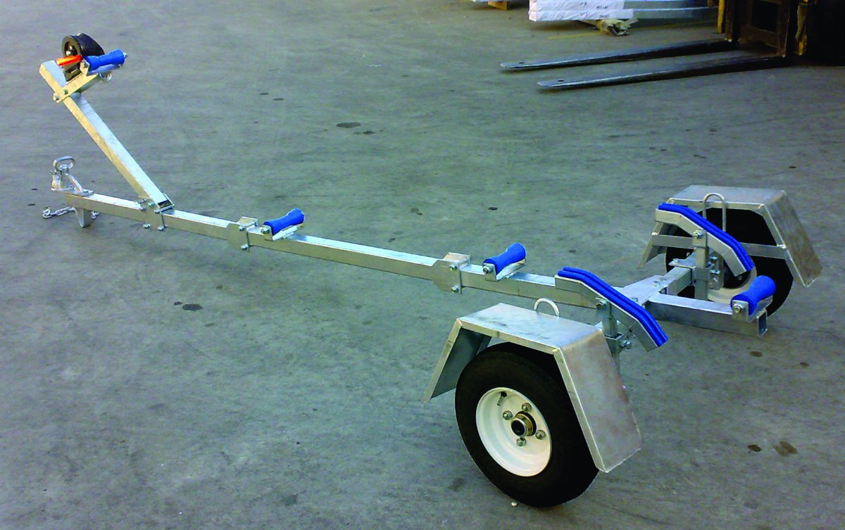 BOAT TRAILER FOLDING TYPE