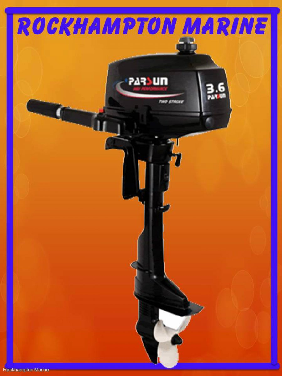 BRAND NEW PARSUN 3.6HP TWO STROKE, SHORT SHAFT OUTBOARD!!!
