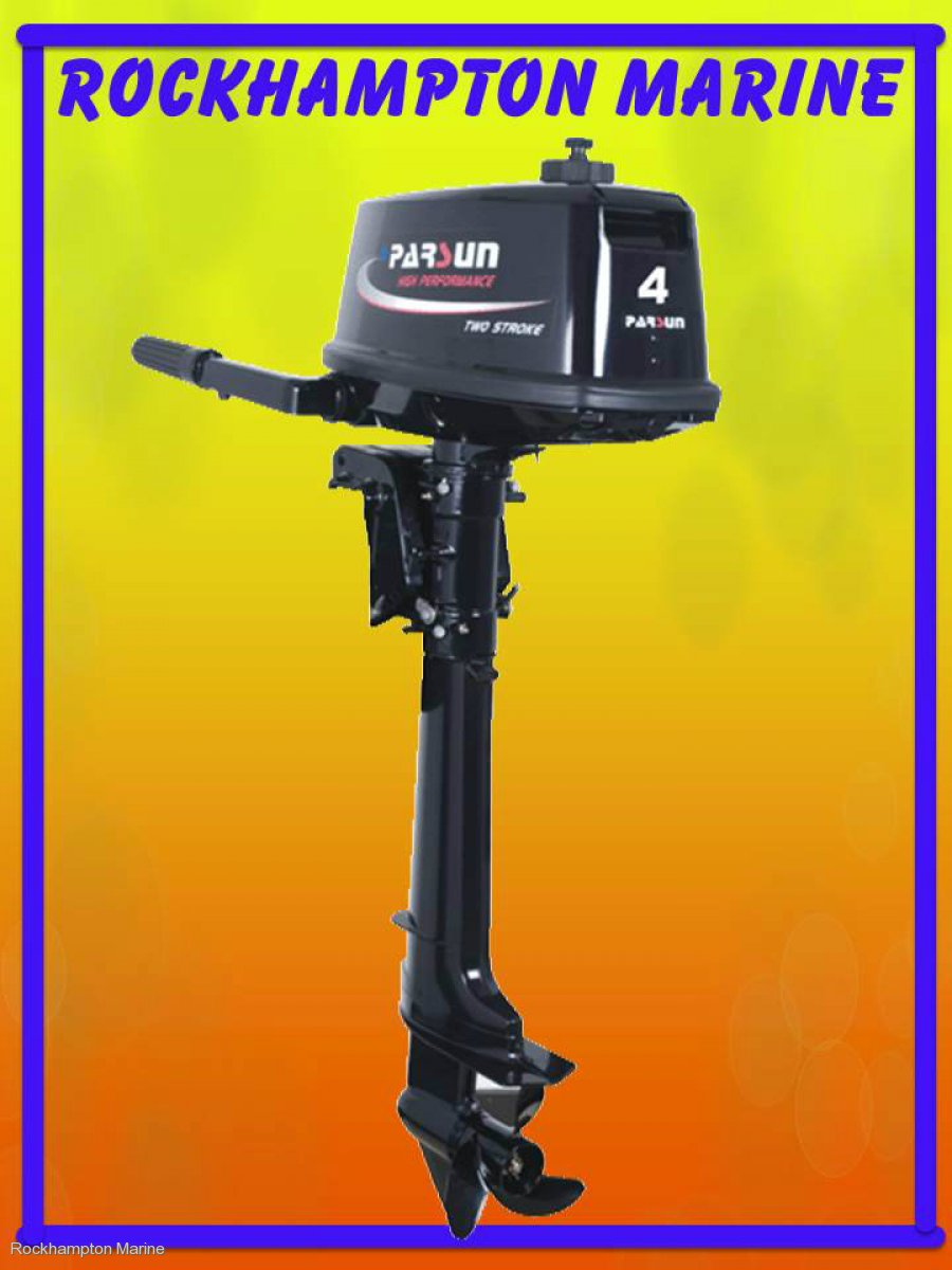 BRAND NEW PARSUN 4HP TWO STROKE, LONG SHAFT OUTBOARD!!!