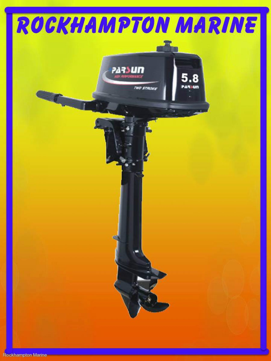 BRAND NEW PARSUN 5.8HP TWO STROKE, LONG SHAFT OUTBOARD!!!