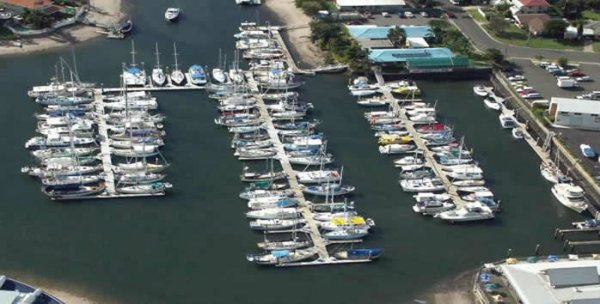 12m berth F12 at Kawana Waters Marina in premier position
