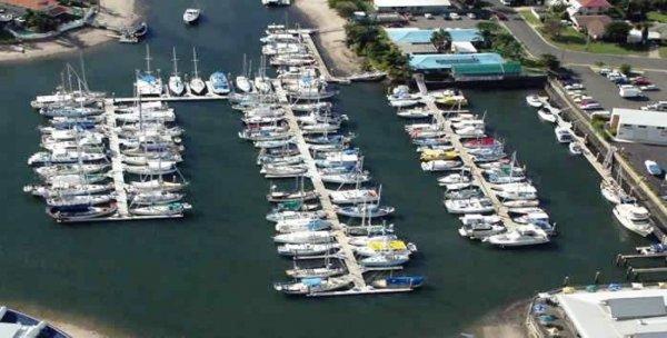 12m berth J5 at Kawana Waters Marina with prime access