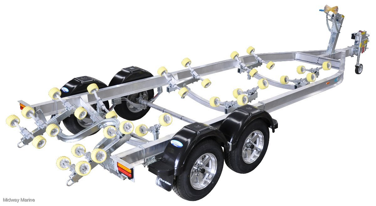 NEW DUNBIER ALUMINUM SUPER ROLLER SERIES BOAT TRAILER