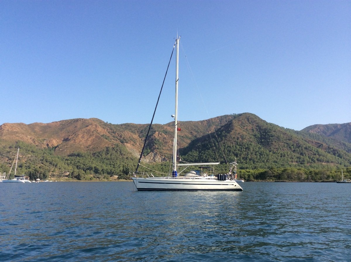 Sunbeam 44:At anchor Marmaris