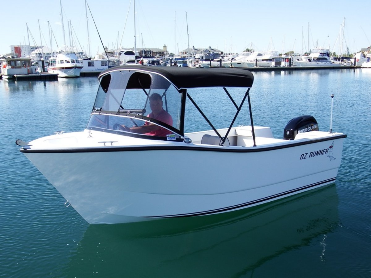Oz Runner 450 Runabout - Built in WA - Huge deck space:Photo courtesy of Barry Wiseman @ The West Australian Newspaper
