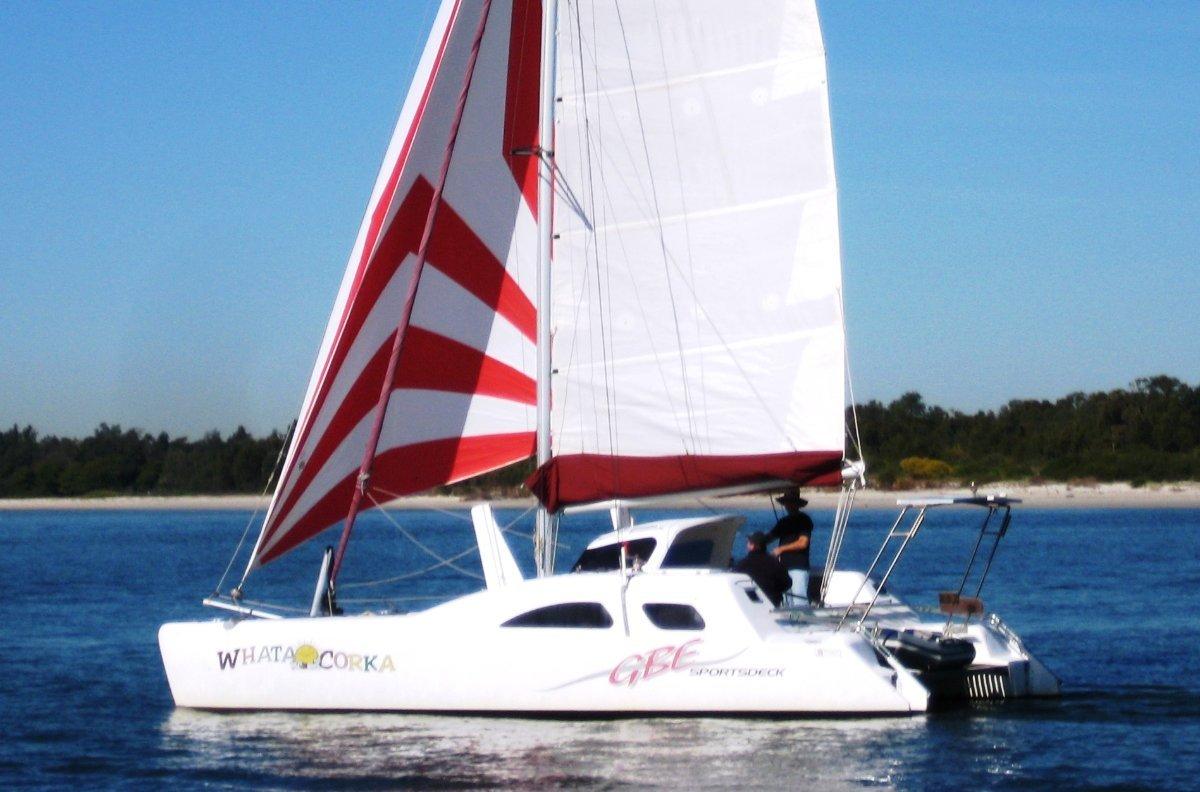 Gbe Sportsdeck Sailing Catamaran:GBE Sportsdeck sailing catamaran