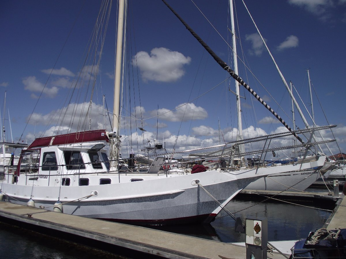 Bruce Roberts Spray 42:Eurynome in her berth.