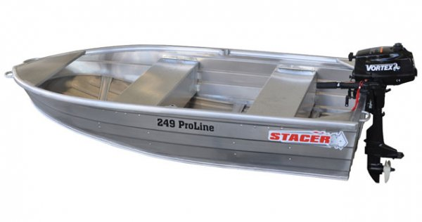Stacer 249 Proline Short Shaft Tinnie/Dinghy Hull Only