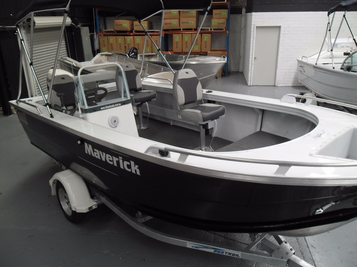 Bluefin 5.20 Maverick Alum Side console Buy now on Interest Free* Terms