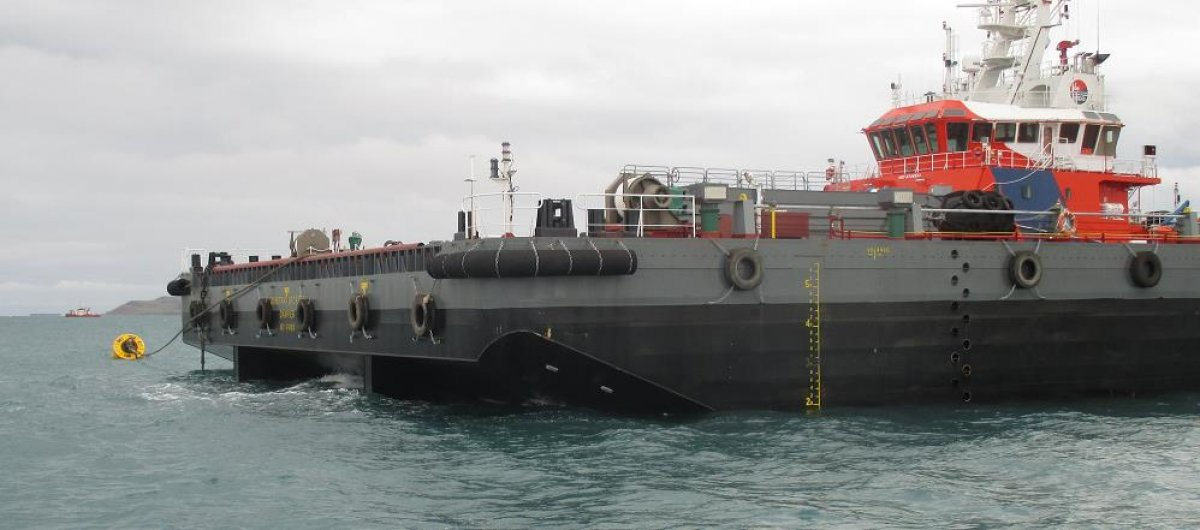 100m 12000DWT Deck Cargo and Ballast Tank Barge