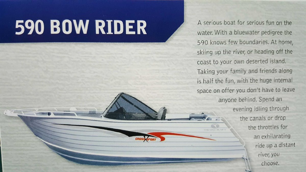 Trailcraft 590 Bowrider