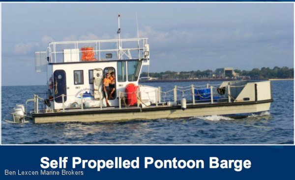 Custom Self Propelled Pontoon Barge