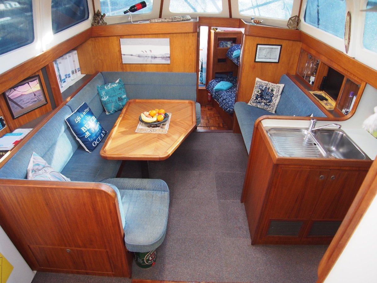 John Pugh Motor Sailer Turnkey Has Circumnavigated, Ready to go Again