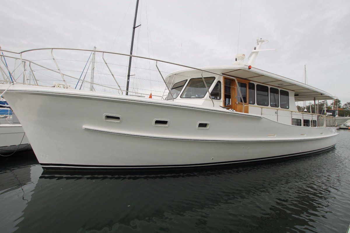 Fred fleming 52 motor cruiser for sale yacht and boat for Motors for boats for sale