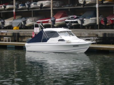 Caribbean Reef Runner boat and trailer with 200hp Suzuki