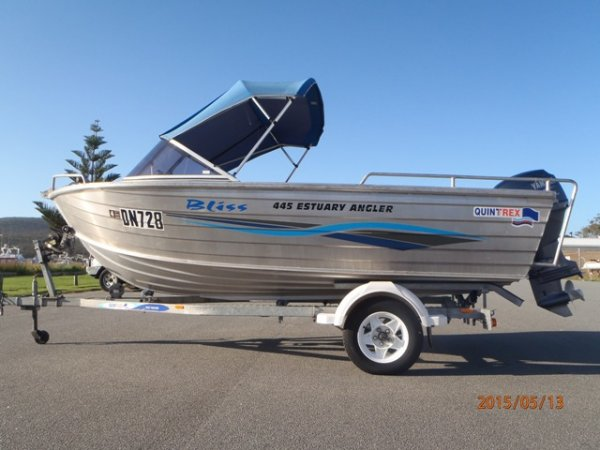Quintrex 445 Estuary Angler RUNABOUT, POPULAR MODEL,