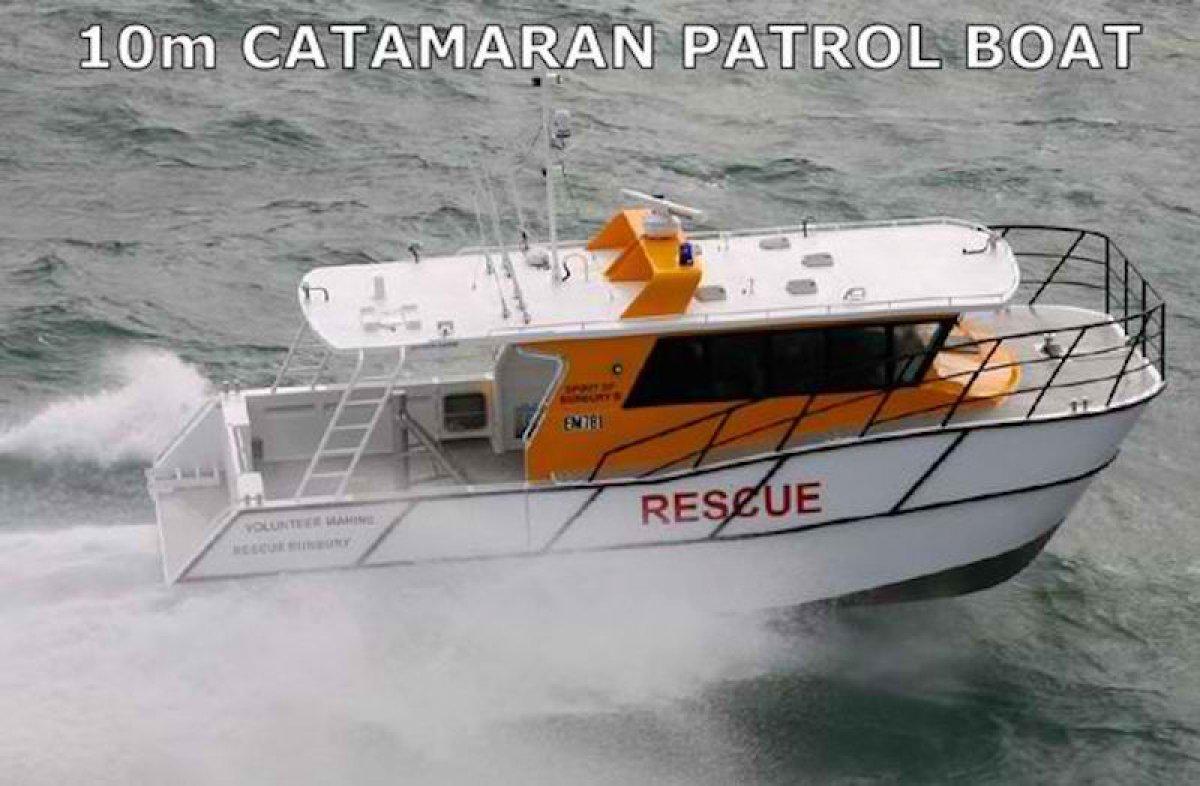 10m Alloy Cat Patrol Boat