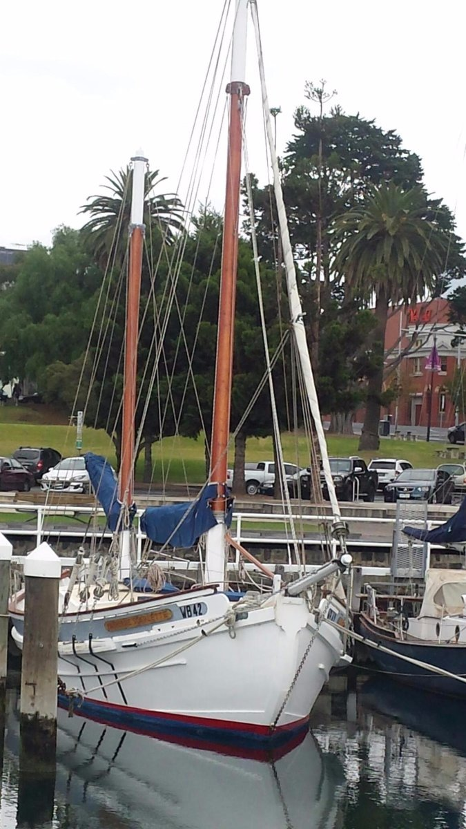 Buehler 46 Gaff Ketch Perfect for charter or distance cruising