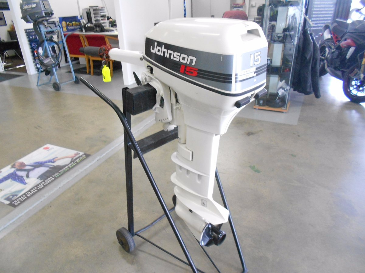 Used JOHNSON 15HP LONG SHAFT
