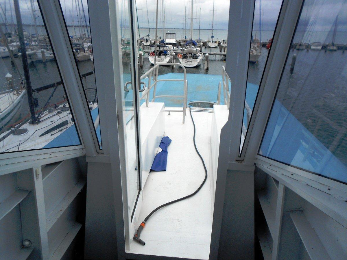 Custom built semi-submersible underwater viewing vessel