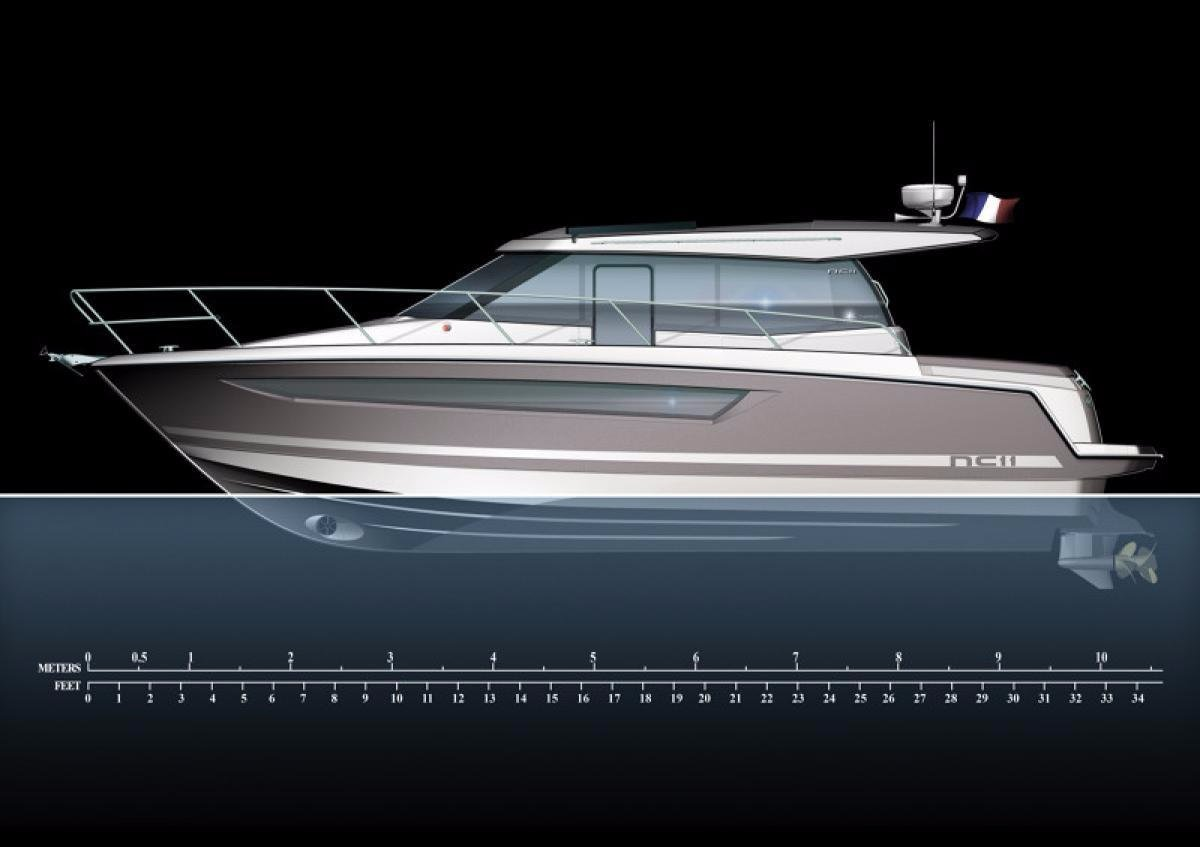 Jeanneau NC 11 + Twin Volvo D3-200 DP 200hp Diesel Sterndrives