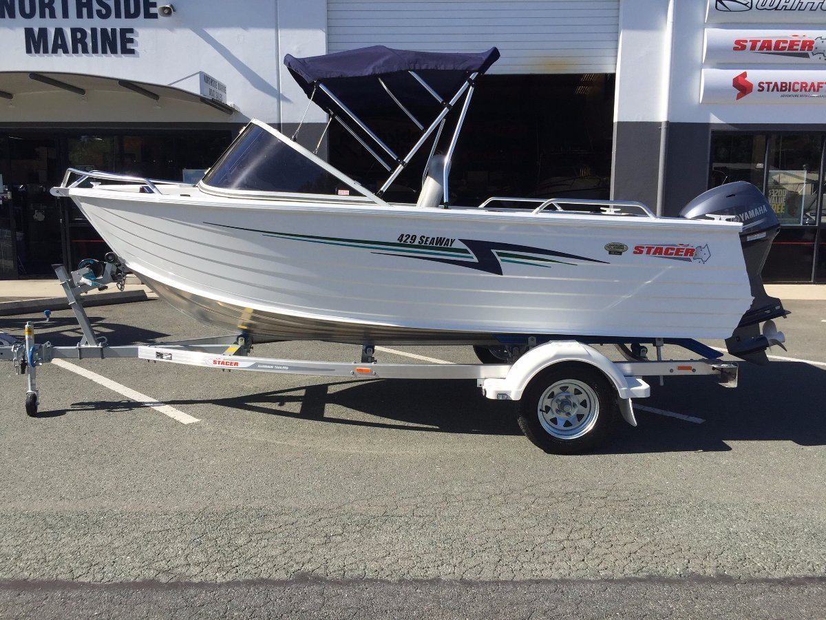 Stacer 429 Seaway Runabout + Yamaha F40LA 40hp Four Stroke Outboard
