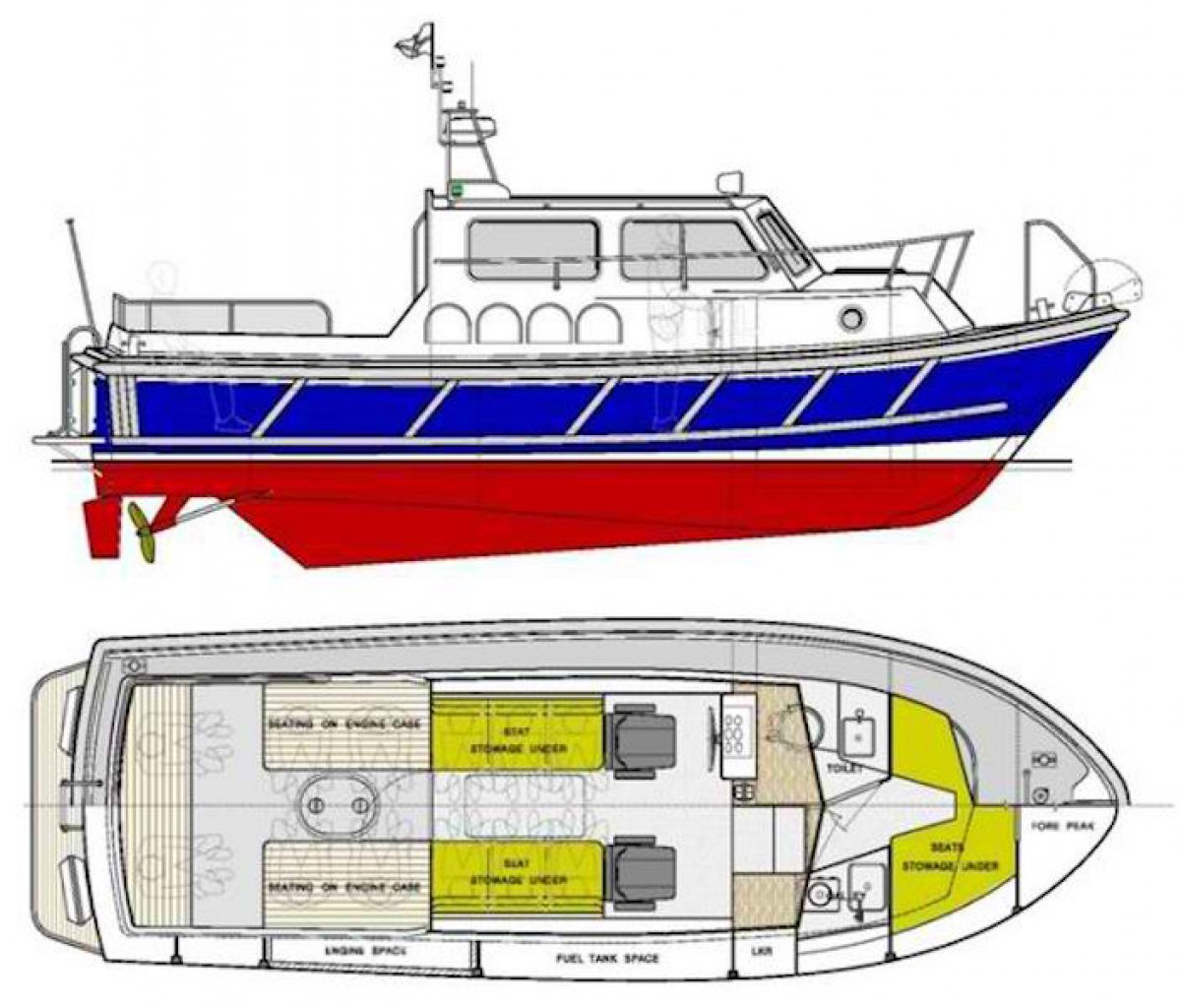 Seaward 29ft Harbour Launch and Harbour Pilot Boat