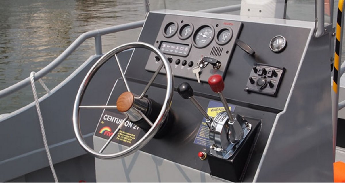 Five AB&E Centurion 21 Minitug Workboat