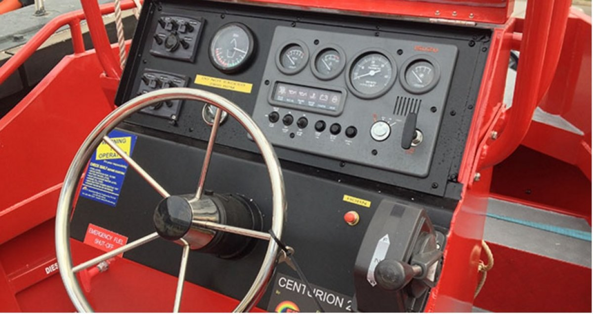 Five AB&E Centurion 24 Fireboat