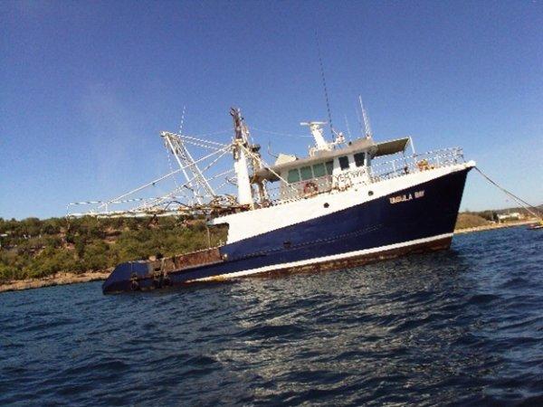 22m Deep Sea Trawler needs a little work.