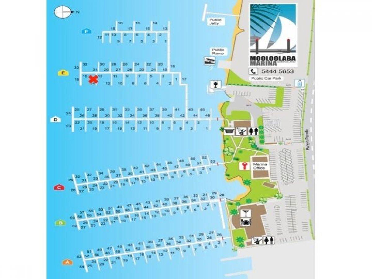 17m x 8.5m Multihull Marina Berth - Mooloolaba Marina