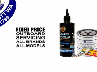 Fixed price outboard servicing for all brands and models