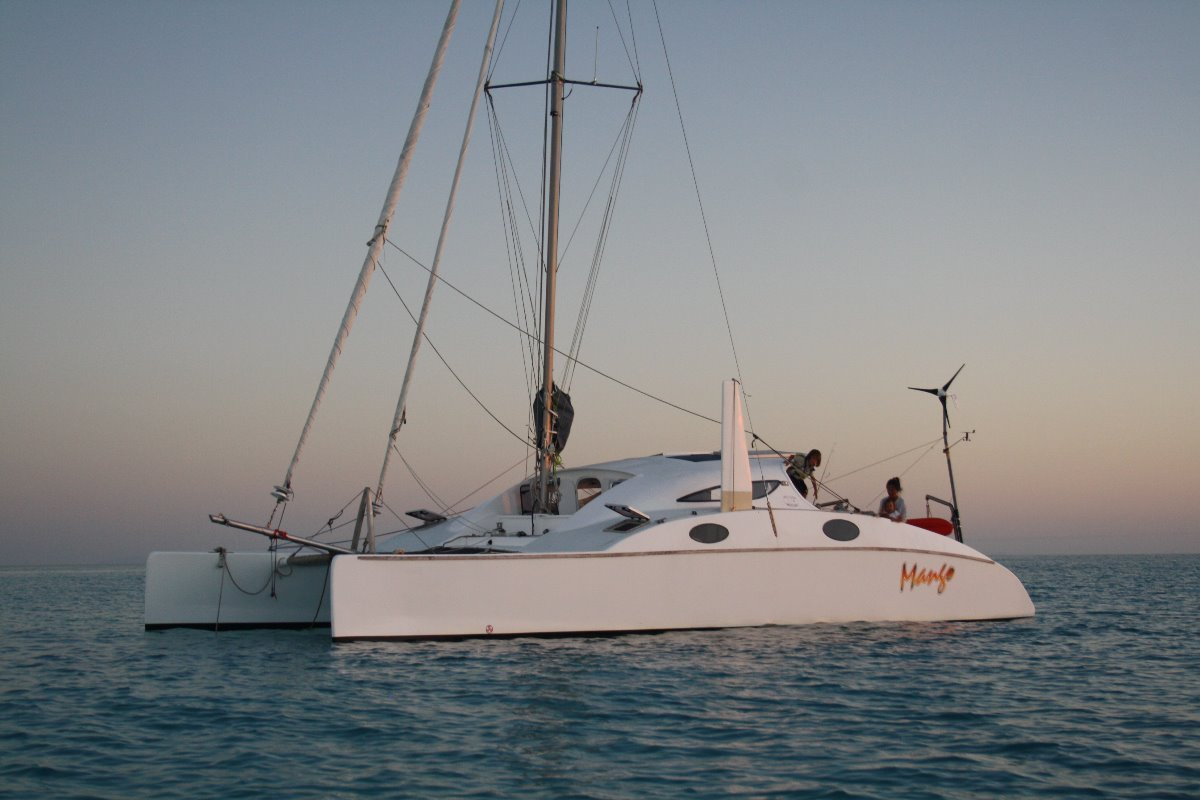 Oram 39 Mango Extended bows to 41 ft LOA