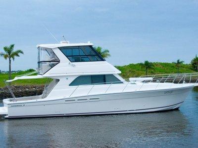 Caribbean 47 Flybridge Cruiser Includes a Fab Dock system