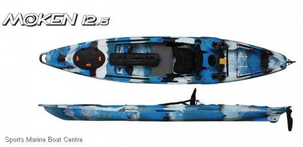 Feel Free Moken 12.5 Angler fishing kayak with standing platform