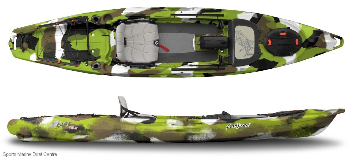 Feel Free Lure 13.5 kayak with standing platform