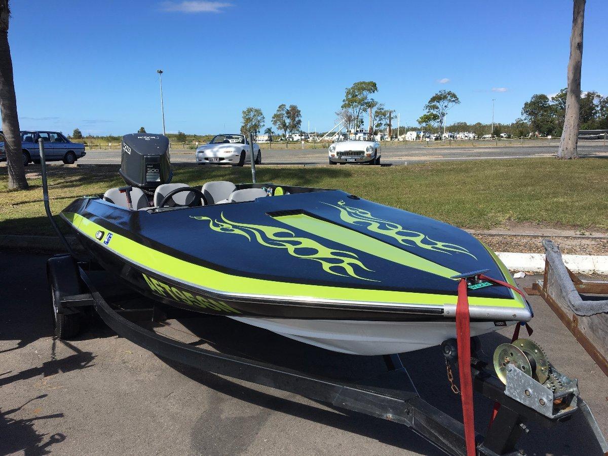 """Custom 16"""" ski race wake board 200 hp V6"""