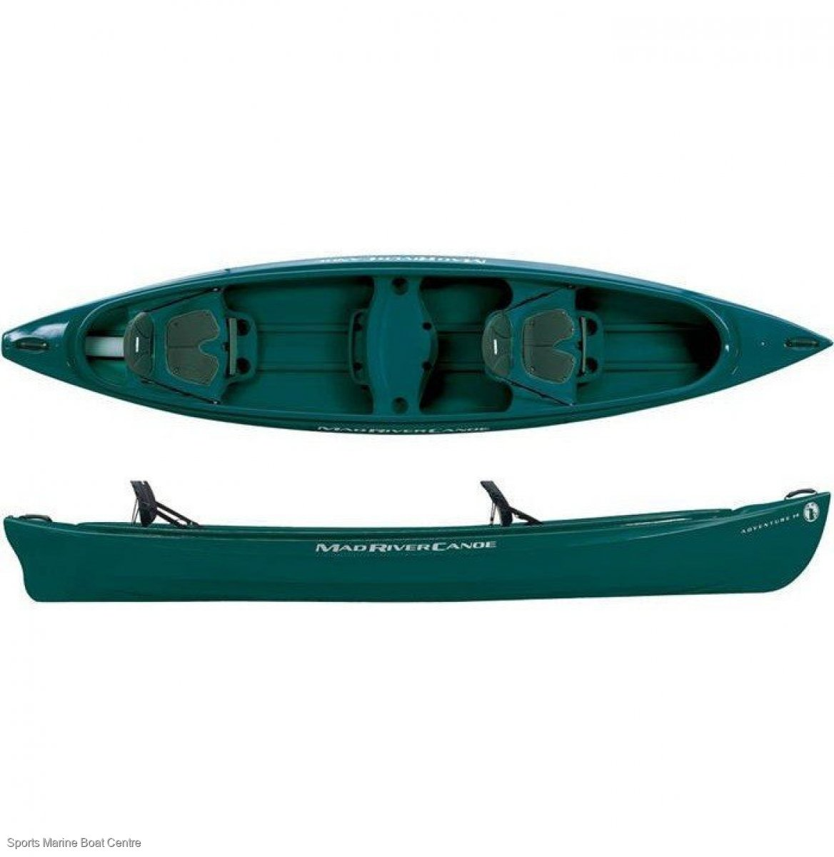 Mad River Adventure 14 Canoe 3 seater - green only