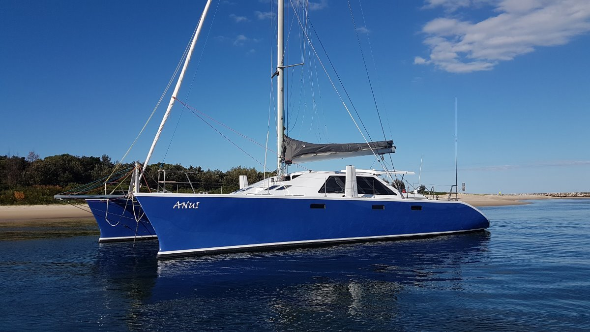 Custom performance cruising catamaran