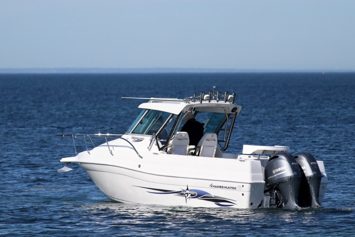 Haines Hunter 700 Enclosed powered with Twin 200 HP Yamaha 4 stroke $174,900