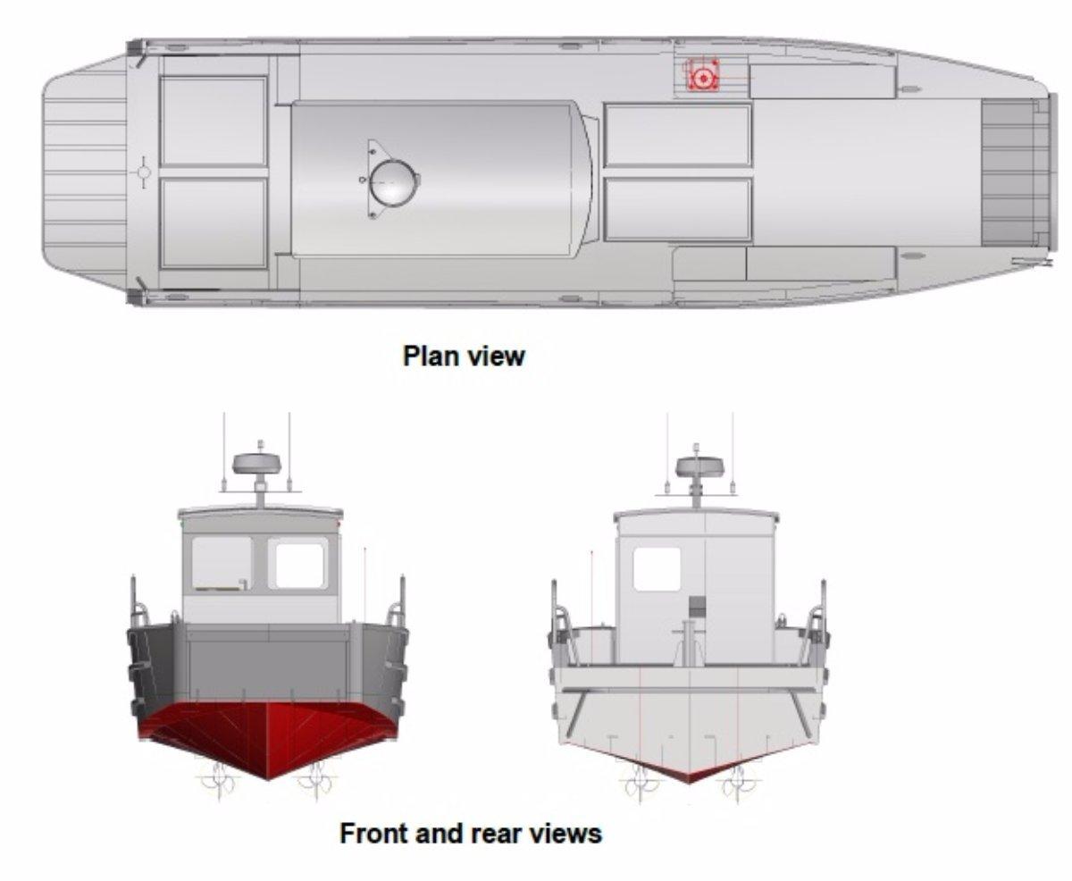 10m Landing Craft with Enclosed Wheelhouse