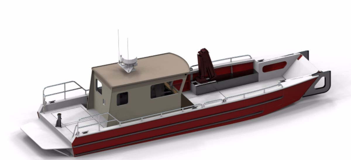 10m Landing Craft with Enclosed Wheelhouse
