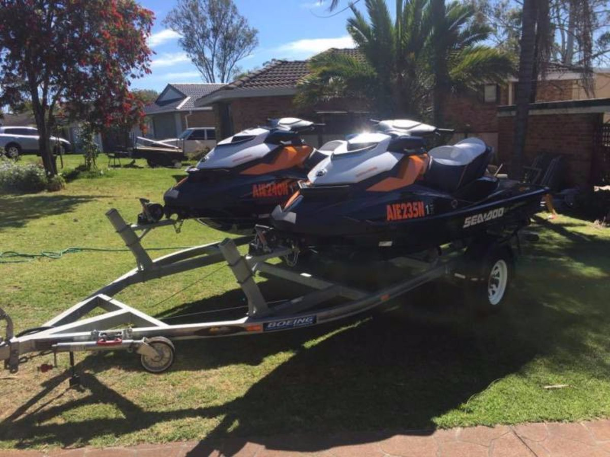 Sea-Doo GTR 2015 Supercharged X 2 on Trailer