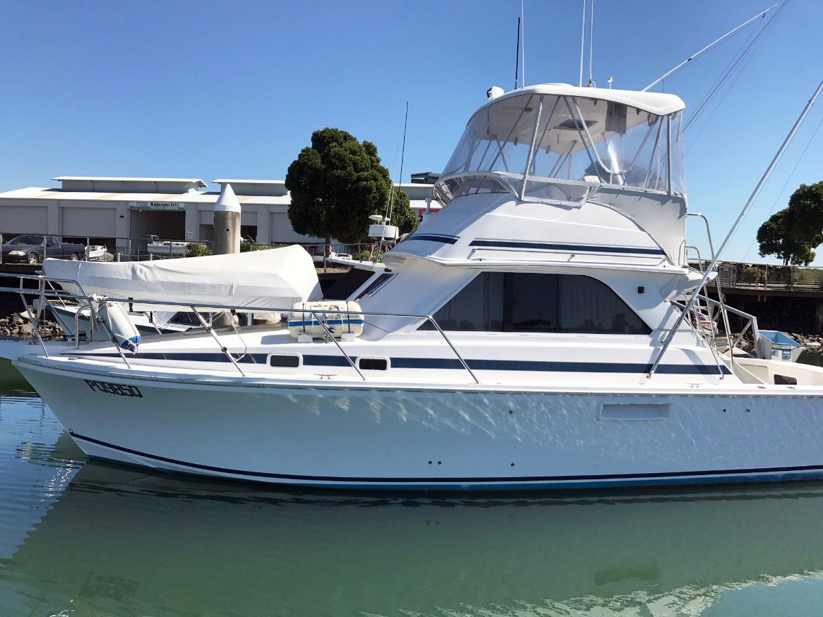 Used caribbean 35 flybridge cruiser game fishing for for Fishing boats for sale