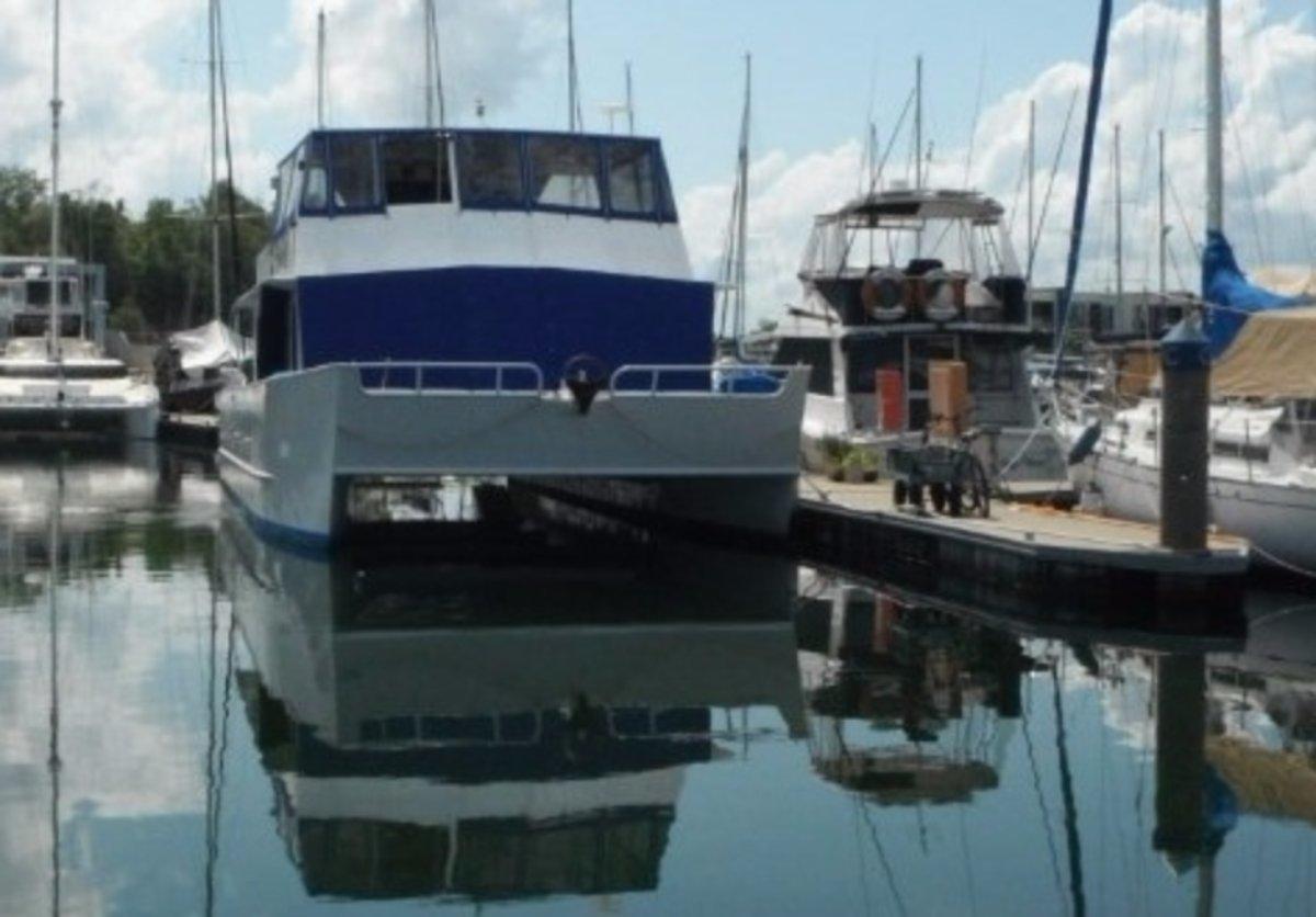 Catamaran Home Cruiser:Berthed Bayview Marina