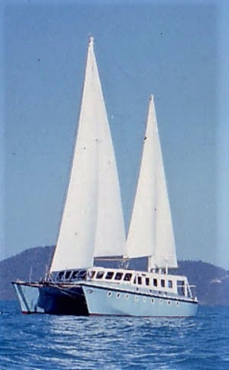 Custom 59' Catamaran One Off:Sailing the Whitsunday Islands
