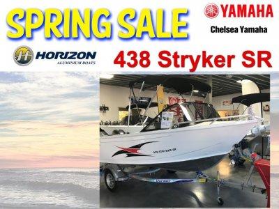 Horizon Aluminium Boats 438 Stryker powered with 40hp Yamaha Four Stroke Outboard